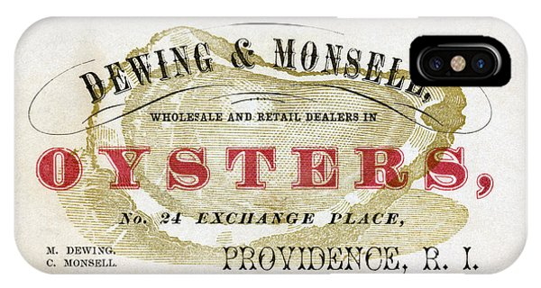 Vintage Oyster Dealers Trade Card IPhone Case