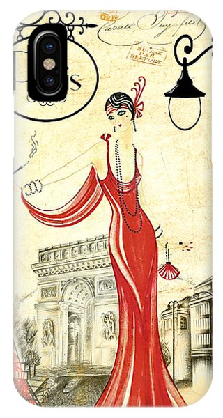 Vintage Paris Woman IPhone Case