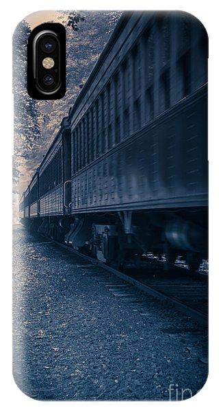 Passenger Train iPhone Case - Vintage Passenger Train Cars by Edward Fielding