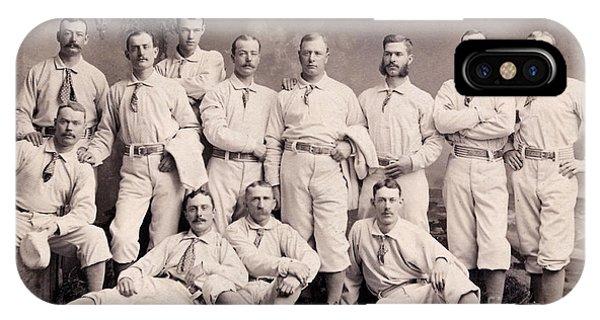 New York Mets iPhone Case - New York Metropolitans Baseball Team Of 1882 by Jon Neidert