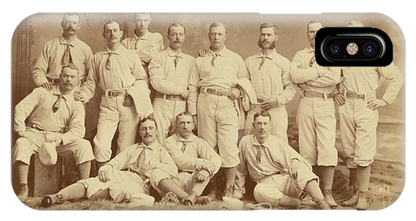 Vintage Photo Of Metropolitan Baseball Nine Team In 1882 IPhone Case
