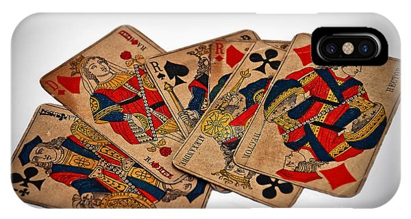 Vintage Playing Cards Art Prints IPhone Case