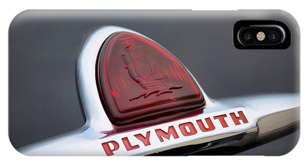 Vintage Plymouth Sailing Ships Emblem  IPhone Case