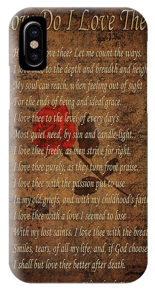 Poetry iPhone Case - Vintage Poem 4 by Andrew Fare