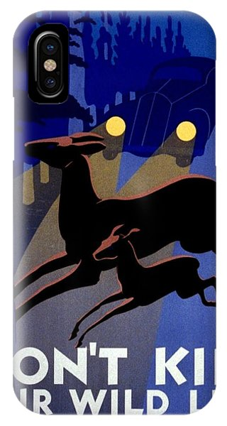 Vintage iPhone Case - Vintage Poster - Don't Kill Our Wild Life by Benjamin Yeager