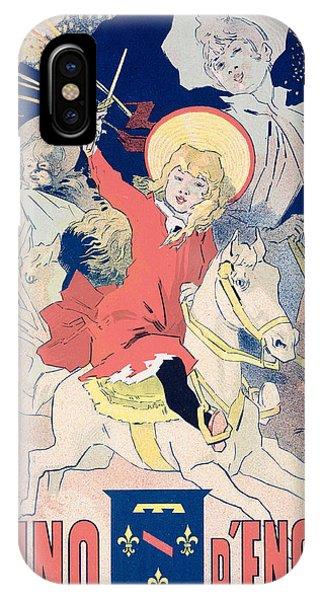 Fireworks iPhone Case - Vintage Poster  Casino Denghien by Jules Cheret
