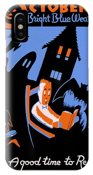 House iPhone Case - Vintage Poster - Reading - October by Benjamin Yeager