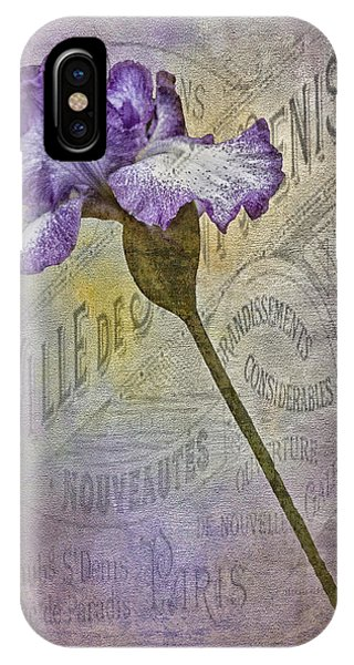 Vintage Pourpre Iris Phone Case by Chanin Green