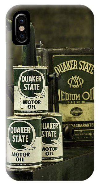 Vintage Quaker State Motor Oil IPhone Case