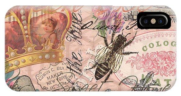 Vintage Queen Bee Collage  IPhone Case