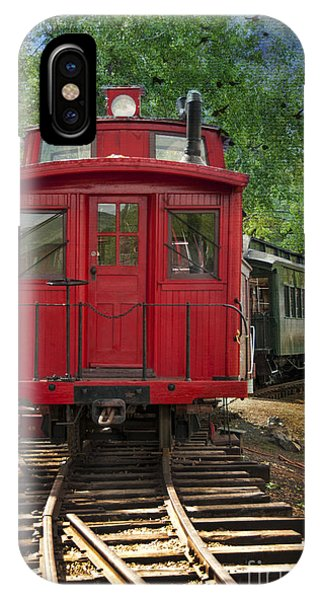 Red Caboose iPhone Case - Vintage Red Train by Juli Scalzi