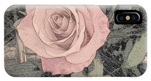 IPhone Case featuring the photograph Vintage Romance Rose by Marian Palucci-Lonzetta