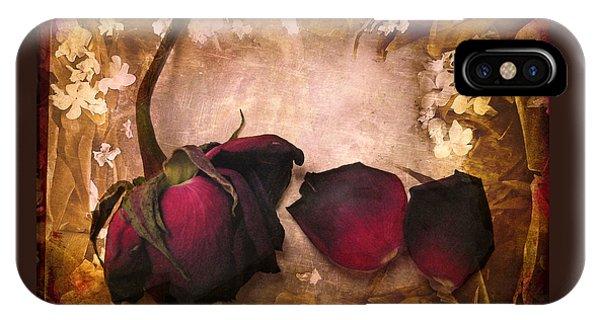 Vintage Rose Petals IPhone Case