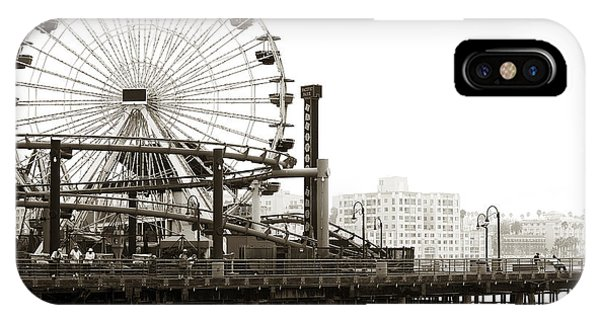 Vintage Santa Monica Pier IPhone Case
