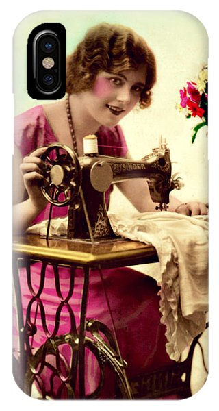 Vintage Seamstress IPhone Case