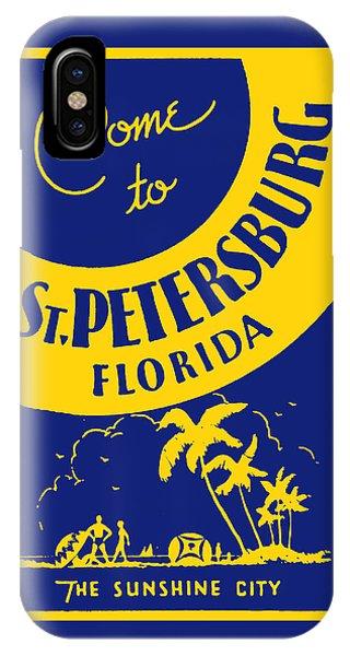 Vintage St. Petersburg Florida Poster IPhone Case