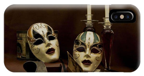 Vintage Still Life Of Venitian Mask IPhone Case