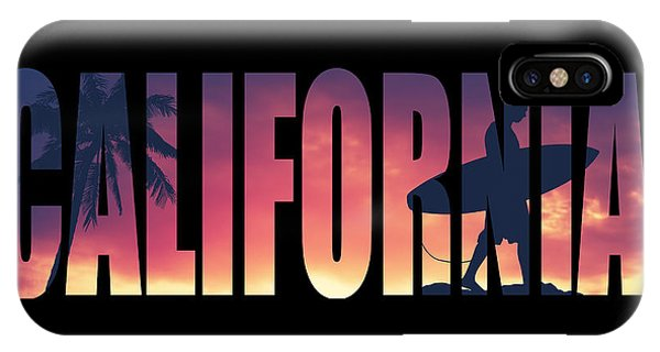 California iPhone Case - Vintage Style California Postcard by Mr Doomits