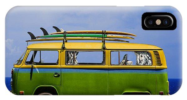 Volkswagen iPhone Case - Vintage Surf Van by Diane Diederich