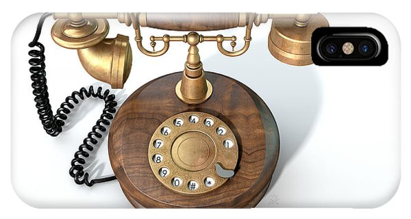 Antiquated iPhone Case - Vintage Telephone Isolated by Allan Swart