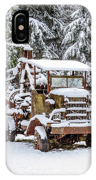 Vintage Tow Truck In The Snow IPhone Case