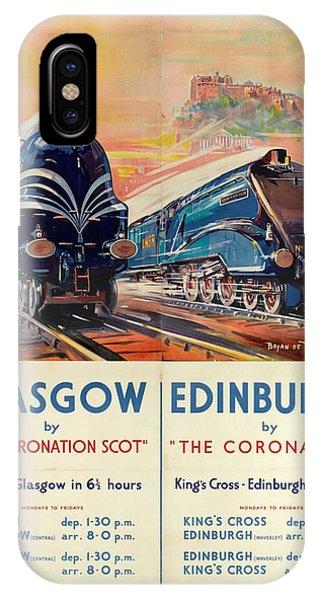 Vintage Train Travel - Glasgow And Edinburgh IPhone Case