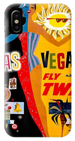 Vintage Travel Poster - Las Vegas IPhone Case