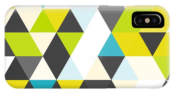Bright iPhone Case - Vintage Triangle Pattern.geometric by Veronika M