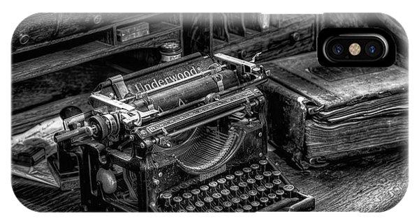 Vintage Typewriter IPhone Case