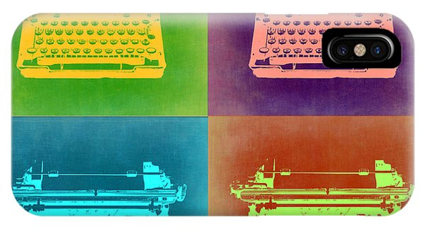 Vintage iPhone Case - Vintage Typewriter Pop Art 1 by Naxart Studio