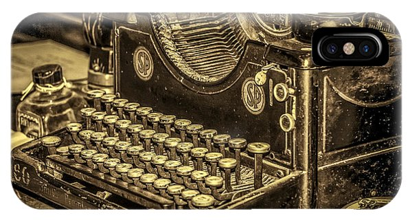 IPhone Case featuring the photograph Vintage Typewriter by Susan Leonard