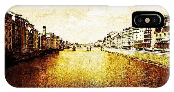 Vintage View Of River Arno IPhone Case