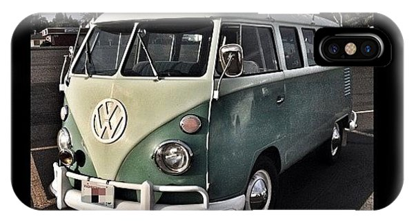 Vw Bus iPhone Case - Vintage Volkswagen Bus 1 by Couvegal Brennan
