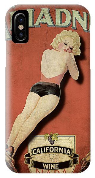 Cocktail iPhone Case - Vintage Wine Ad II by Cinema Photography