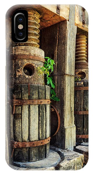 Vintage Wine Press IPhone Case
