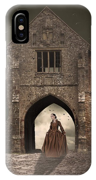 Vintage Woman Standing Under Archway IPhone Case