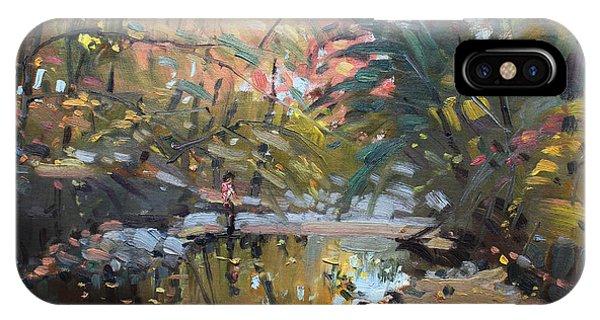 Creek iPhone Case - Viola At The Creek by Ylli Haruni