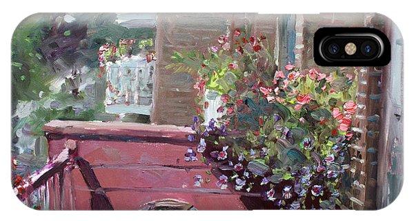 Chair iPhone Case - Viola's Balcony by Ylli Haruni