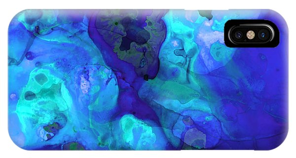 Violet iPhone Case - Violet Blue - Abstract Art By Sharon Cummings by Sharon Cummings