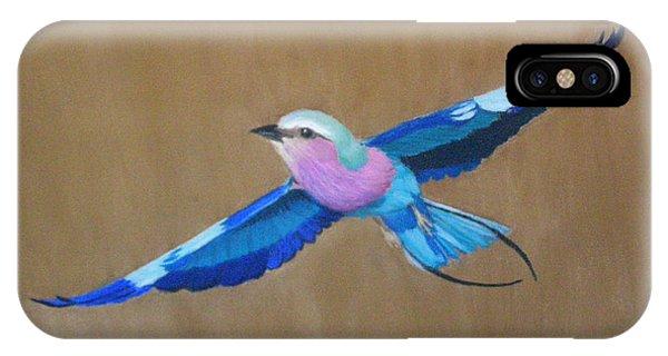 Violet-breasted Roller Bird II IPhone Case