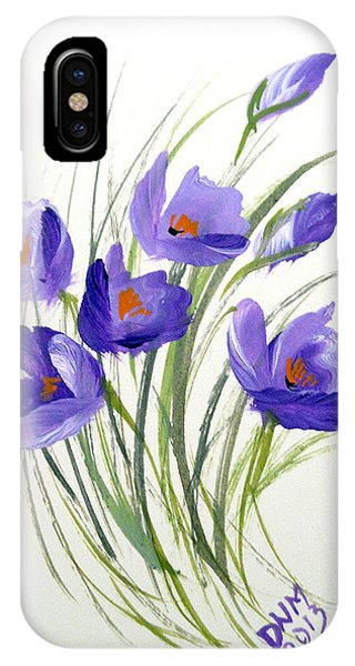 Violet Crocus IPhone Case