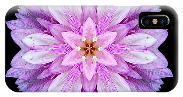 Violet Dahlia I Flower Mandala IPhone Case