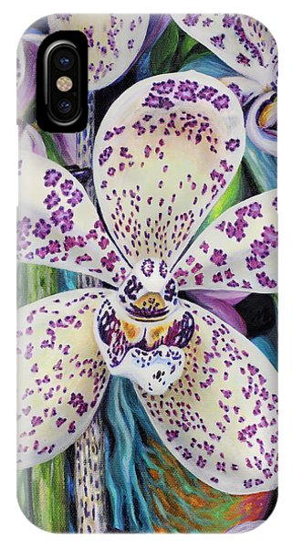 Violet Dotted Orchid IPhone Case