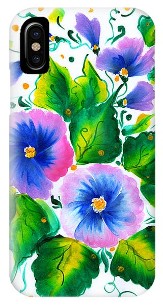 Violet Flowers IPhone Case