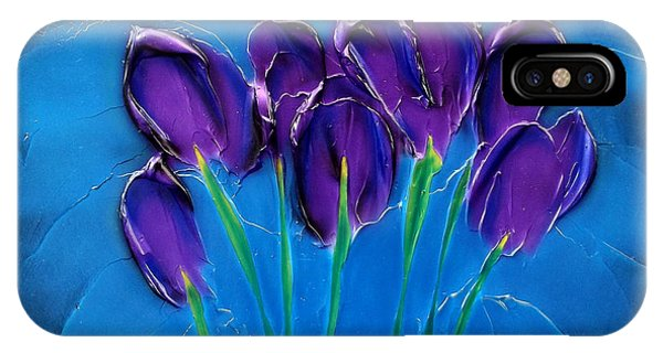 Violet Posy IPhone Case