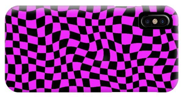 Violet Warped Polygons IPhone Case