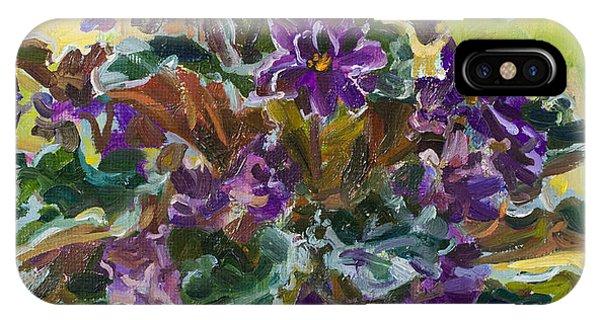 Violet iPhone Case - Violets  Autumn by Victoria Kharchenko