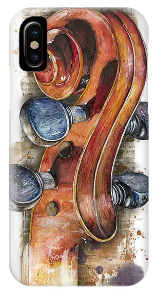 Violin 02 Elena Yakubovich IPhone Case