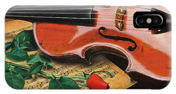 Violin And Rose IPhone Case