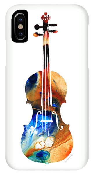 Music iPhone Case - Violin Art By Sharon Cummings by Sharon Cummings